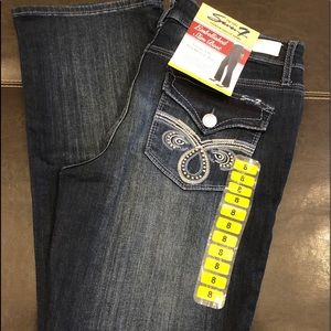 NWT$79 SEVEN7 EMBELLISHED Slim Stretch Jeans
